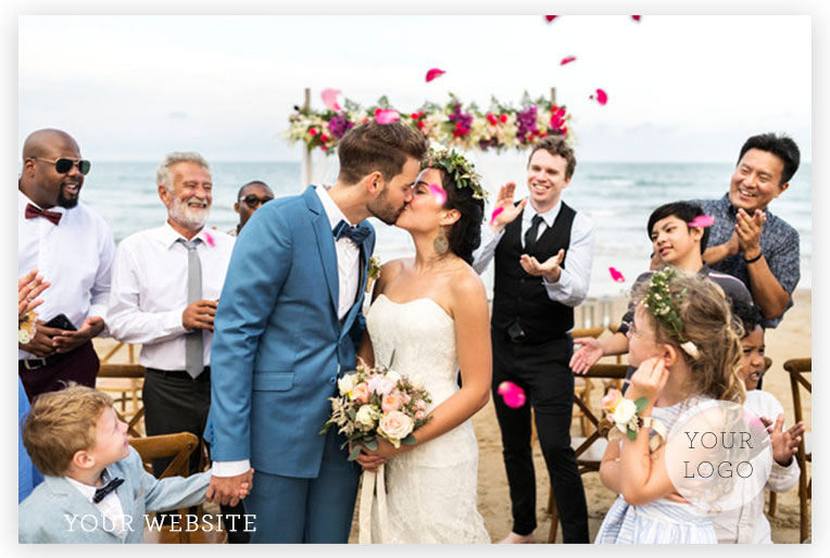 couple getting married at the beach. Photo Pack imagePhoto Pack