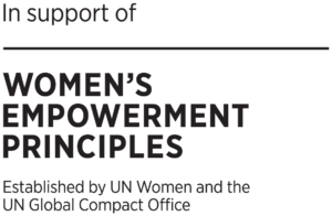 in support of United Nations Women's Empowerment Principles WEPs logo