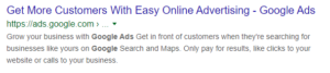 metadescription do google adwords mostra na pesquisa do google