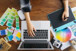 designer creation the visual identity of a company